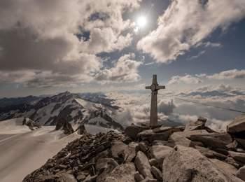 Am Gipfel des Schwarzensteins