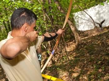 Archery at Xsund Adventure Parcour Terlan