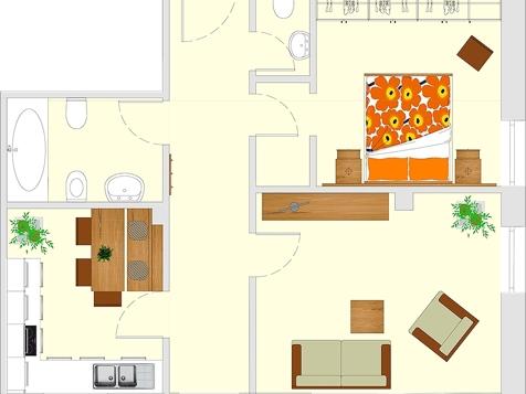 Apartment D1 - 2-4 Personen - 55m²-4