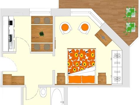 Apartment A1 - 1-2 Personen - 30m²-5