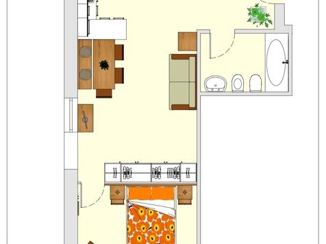 Apartment B1 - 2 Personen - 40m²-5