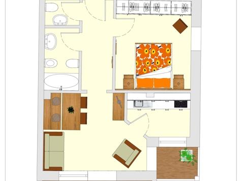 Apartment C1 - 2-3 Personen - 45m²-6
