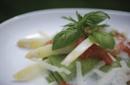 Gourmet with asparagus