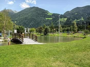 Bathing lake in Gais