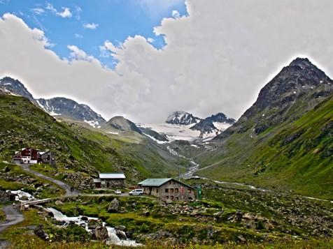 Berghütte im Jamtal