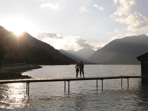 Bootssteg sul lago Achensee