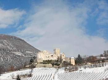 Churburg Castle in winter
