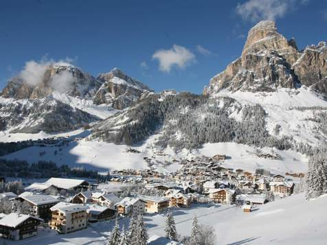 Corvara in winter