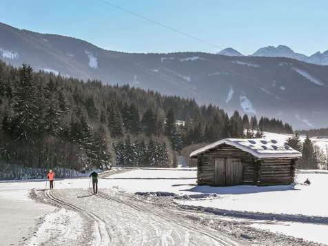 Cross-country skiing in Gsies