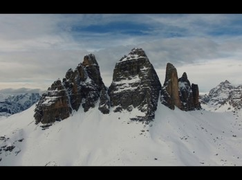 Dolomites in winter