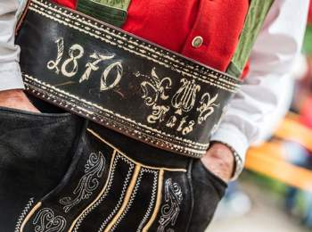 Embroidered traditional belt