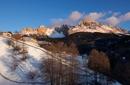 Ersehnte Entspannung in tiefverschneiter Bergwelt