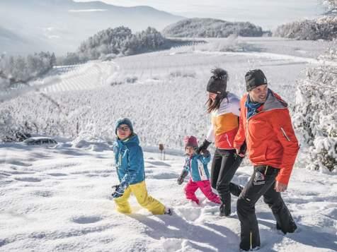 Escursioni invernali in famiglia