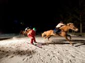 Night skikjoring in Hafling