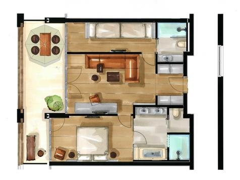 Residence Familiensuite | Aquagarden-2