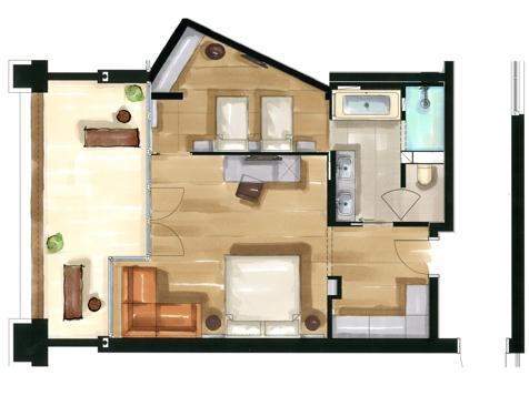 Residence Family Nest deluxe | Aquagarden-2