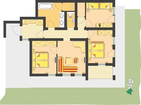 Landhaus Suite Buchau - für bis zu 6 Personen-1
