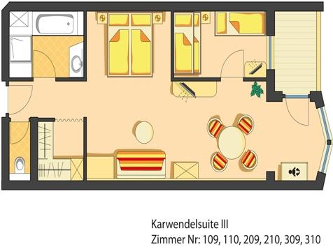 Karwendel Suite III - für 2 Erw. und 1 - 3 Kinder-3