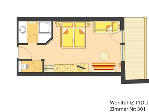 Wohlfühlzimmer - für 2 Erwachsene und 1 - 2 Kinder-4