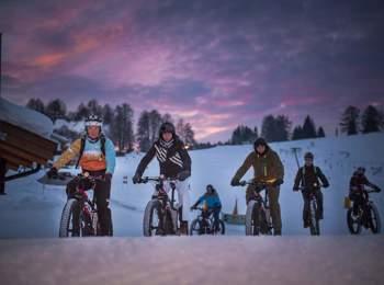 Fat bike in South Tyrol