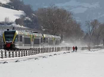 Ferrovia della Val Venosta in inverno