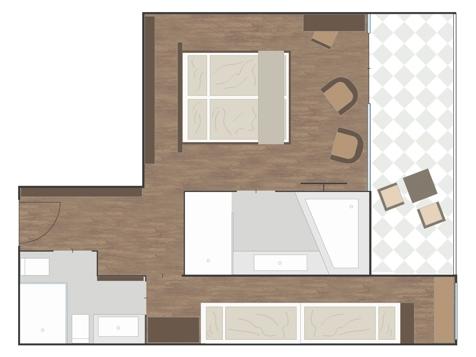 Penthouse Designersuite BURGUND-1
