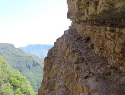 Fixed rope route Gerardo Sega