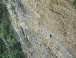 Fixed rope route Gerardo Sega