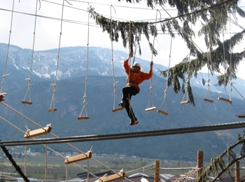 High-rope course in Terlan