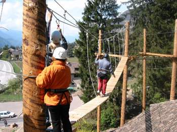 High-rope course Xsund Adventure Parcours Terlan