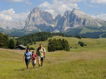 Hiking on Seiser Alm