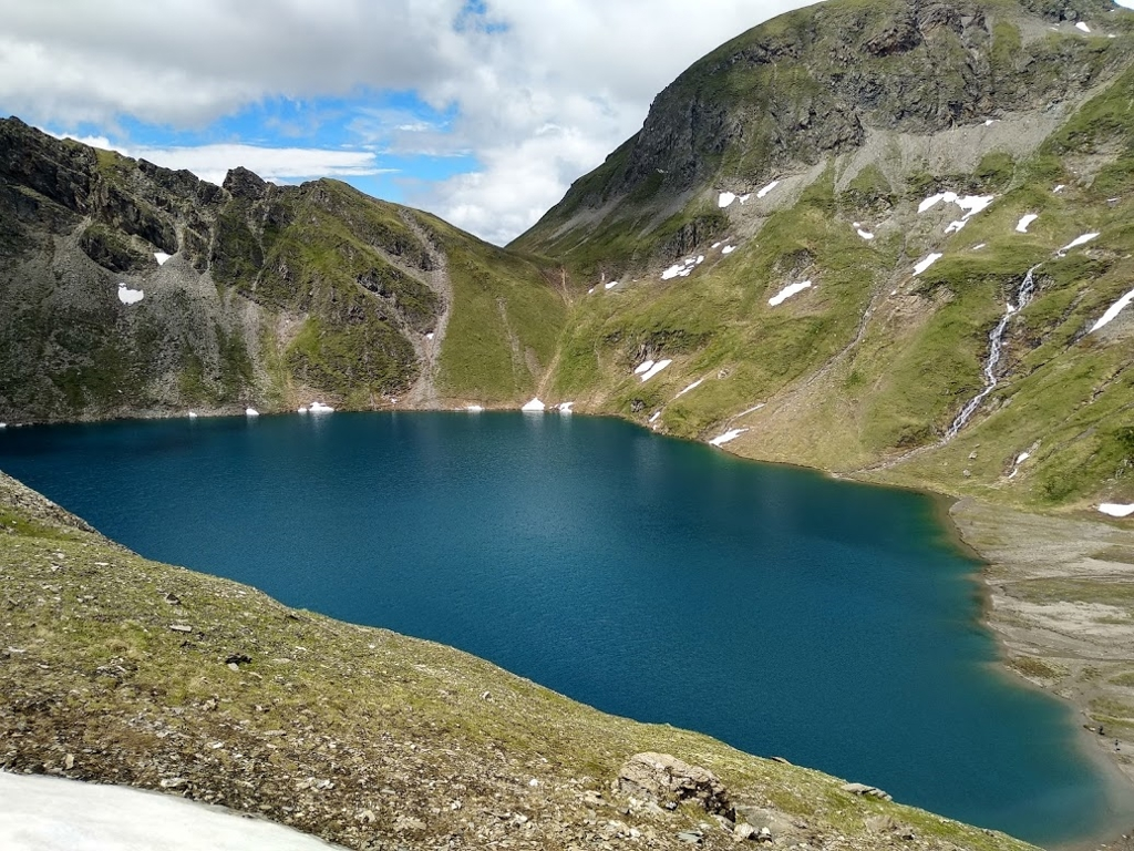 image: Hiking to lakes and summits
