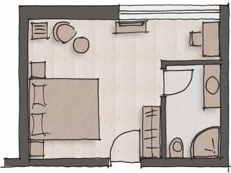 """Komfort Einzelzimmer """"Dolomites""""-4"""