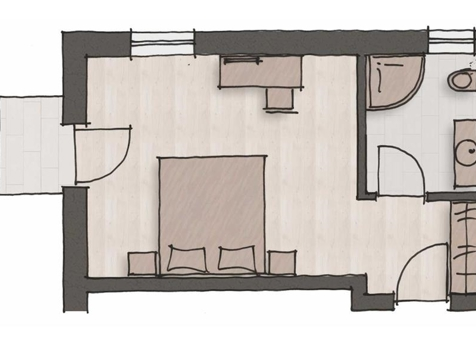 "Komfort Doppelbettzimmer ""Chardonnay""-3"