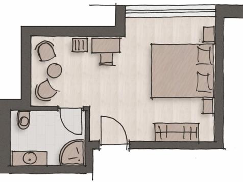 "Komfort Doppelbettzimmer ""Riesling""-4"