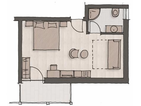 """Komfort Doppelbettzimmer """"Gewürztraminer""""-4"""