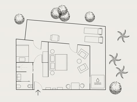 Living Spa Suite Garden mit Whirlpool-5