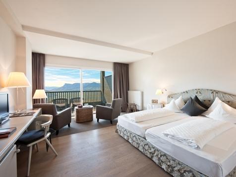Doppelzimmer mit Südbalkon und Panoramablick-1