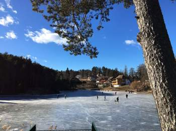 Ice-skating on Lake Wolfsgruben