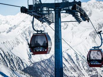 Im Skigebiet Klausberg