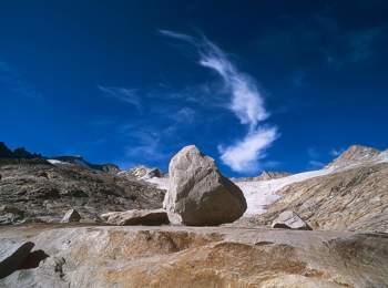 Impressive mountain world at Neves reservoir
