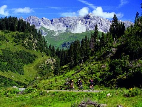 In bici al  Verwallgebirge