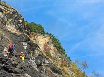 Klettersteig am Stuller Wasserfall