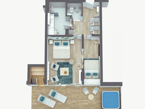penthouse suite lodge top of meran - neu!-2