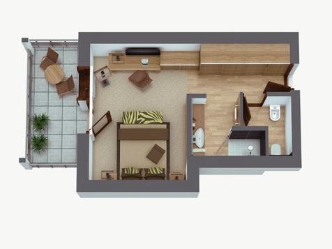 Comfort Doppelzimmer Giardino-2