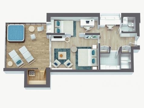 Penthouse Suite Lodge Spa-4