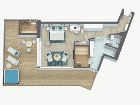 Penthouse Suite Lodge Top of Meran Premium-6