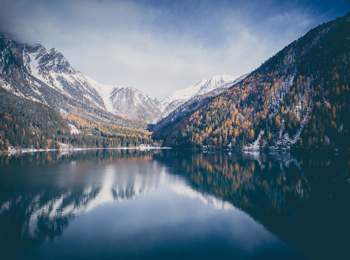 Lake Antholz in autumn
