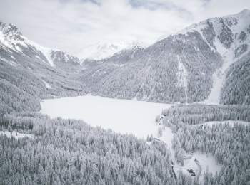 Lake Antholz in winter