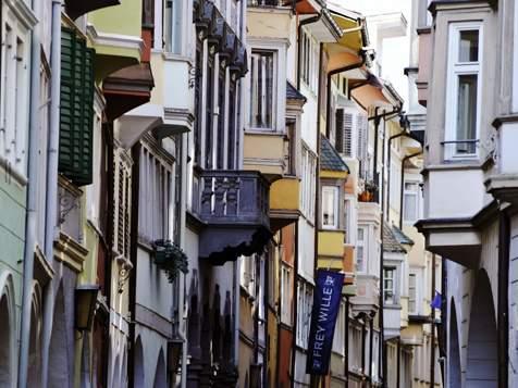 Laubengasse street in Bozen